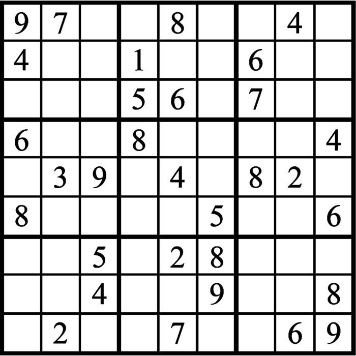 Janric Classic Sudoku for Mar 26, 2019