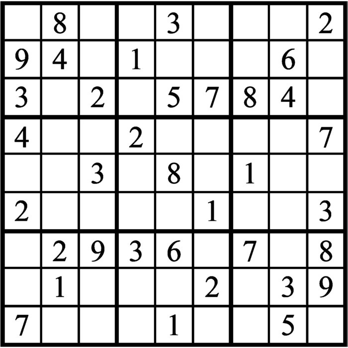 Janric Classic Sudoku for Mar 25, 2019