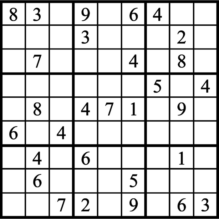 Janric Classic Sudoku for May 15, 2019