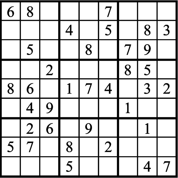 Janric Classic Sudoku for Jun 16, 2019