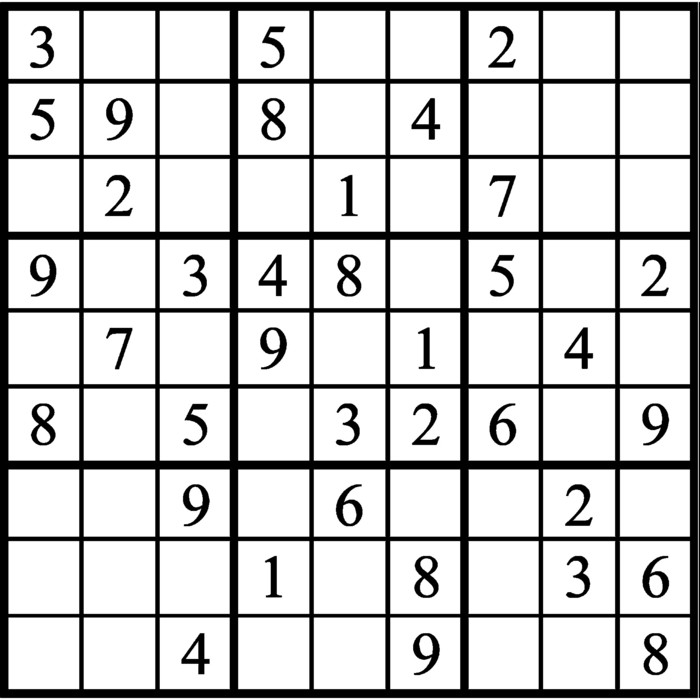 Janric Classic Sudoku for May 27, 2019