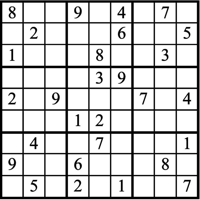 Janric Classic Sudoku for Jun 12, 2019