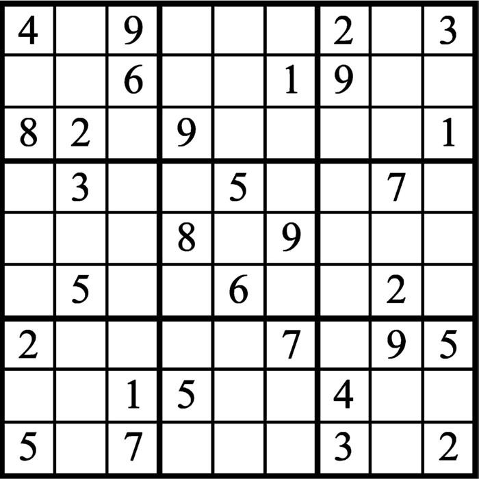Janric Classic Sudoku for Jun 11, 2019