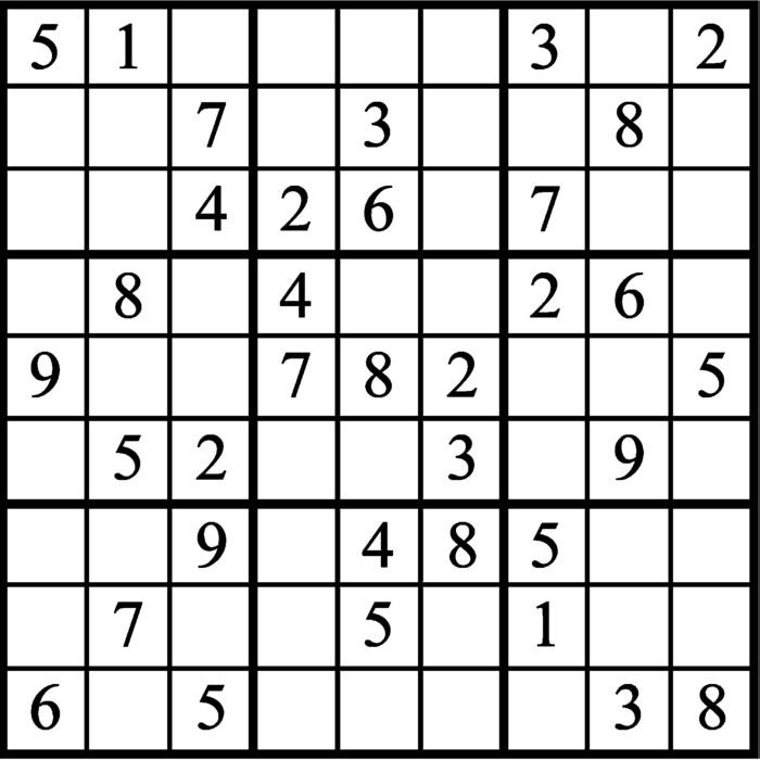 Janric Classic Sudoku for Jun 10, 2019