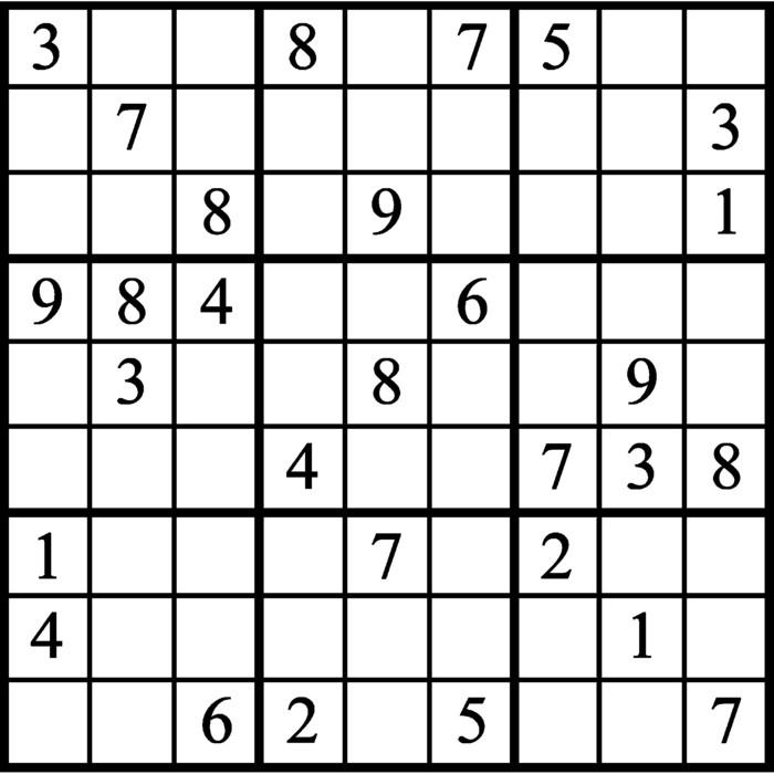 Janric Classic Sudoku for Jun 14, 2019