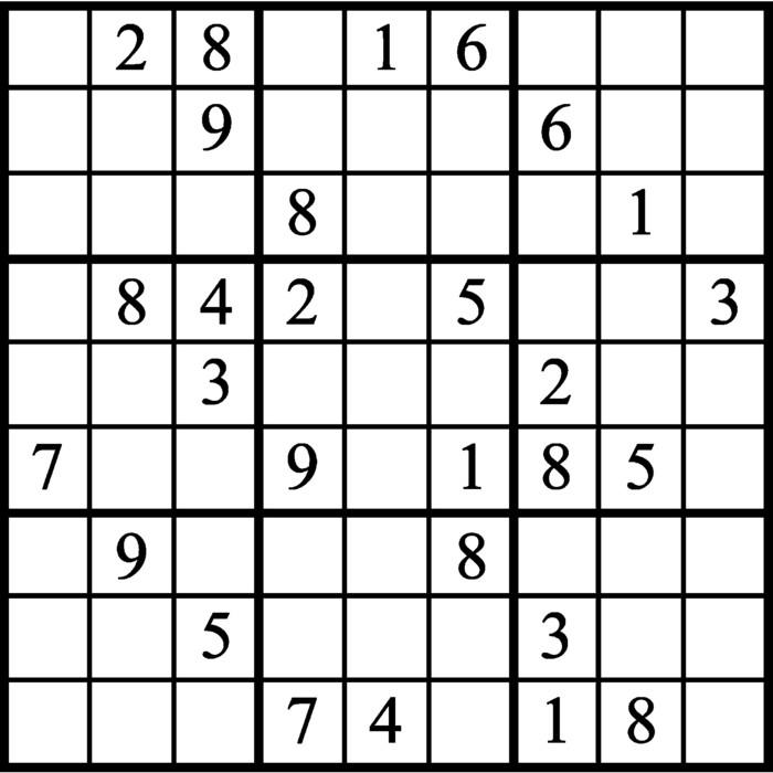 Janric Classic Sudoku for Jun 15, 2019