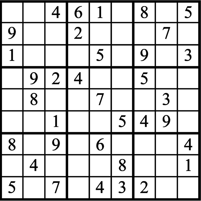 Janric Classic Sudoku for Jul 11, 2019