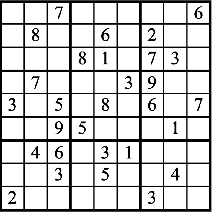 Janric Classic Sudoku for Aug 14, 2019