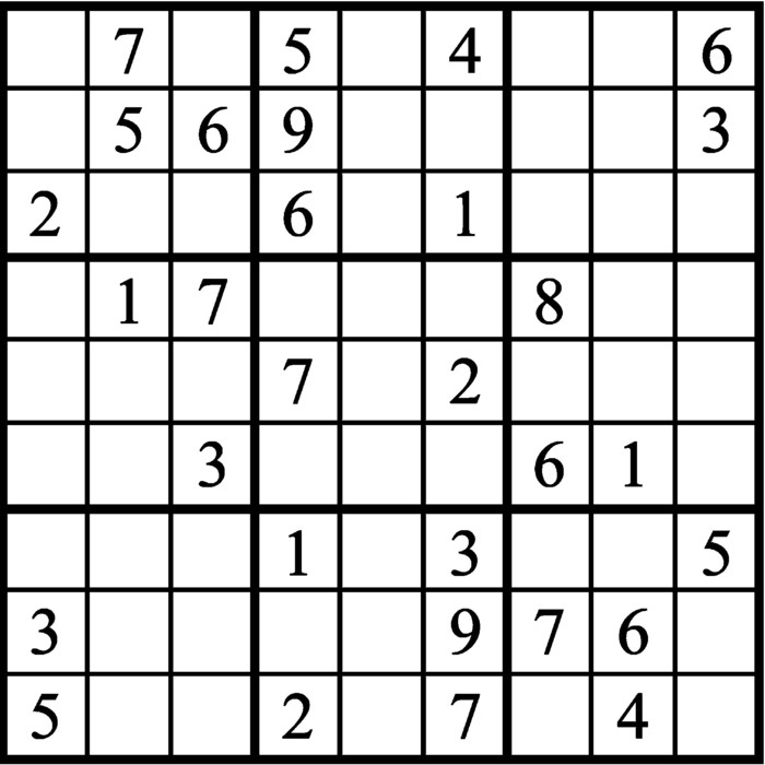 Janric Classic Sudoku for Sep 20, 2019