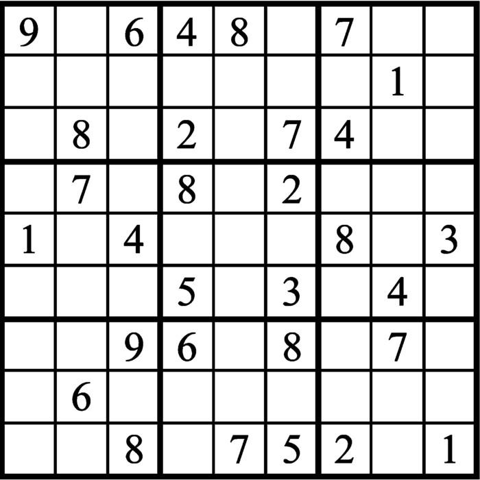 Janric Classic Sudoku for Nov 08, 2019