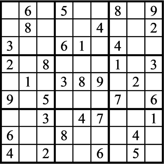 Janric Classic Sudoku for Nov 11, 2019