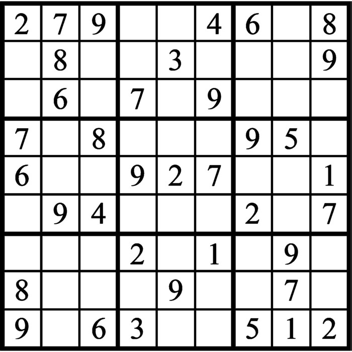 Janric Classic Sudoku for Nov 14, 2019