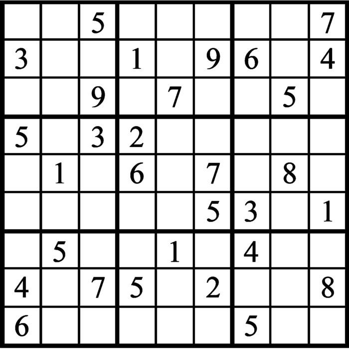 Janric Classic Sudoku for Nov 19, 2019