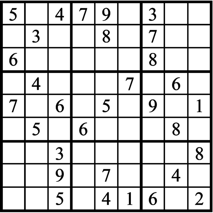 Janric Classic Sudoku for Dec 13, 2019