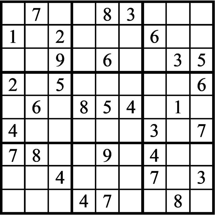 Janric Classic Sudoku for Dec 03, 2019