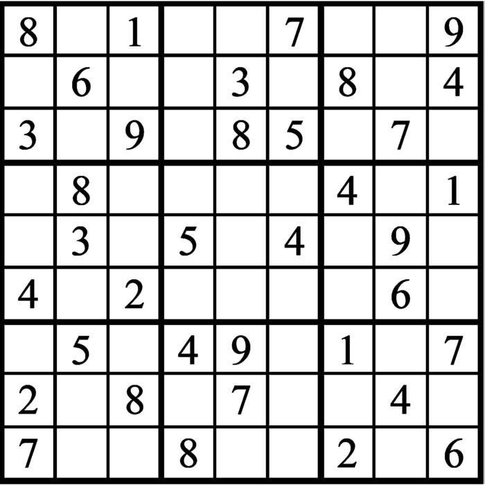 Janric Classic Sudoku for Dec 12, 2019