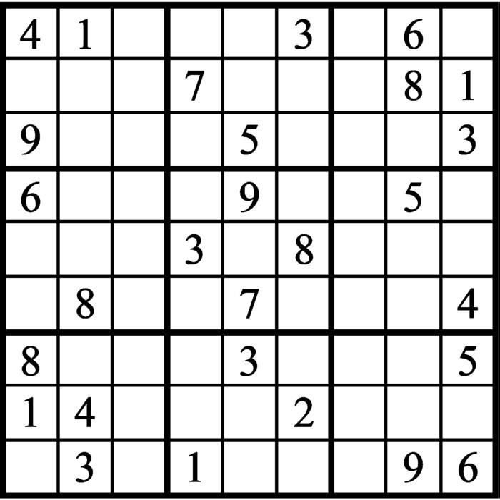 Janric Classic Sudoku for Jan 26, 2020
