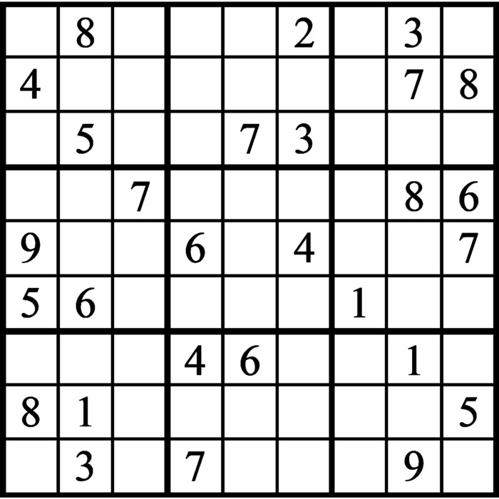 Janric Classic Sudoku for Jan 25, 2020