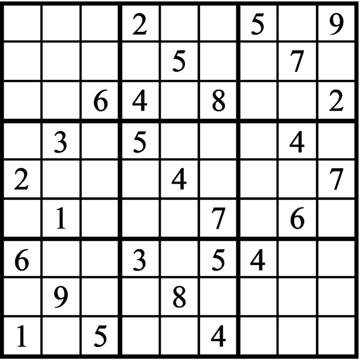 Janric Classic Sudoku for Oct 24, 2020