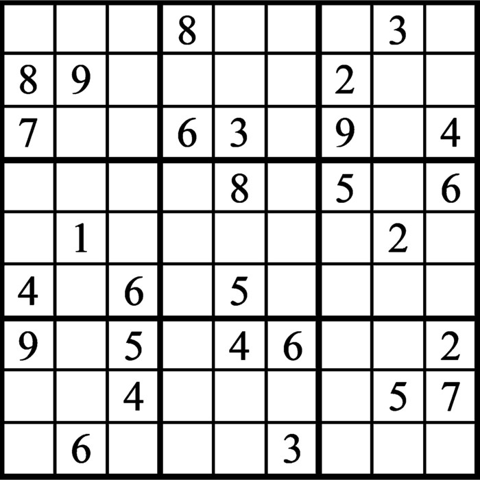 Janric Classic Sudoku for Mar 06, 2021