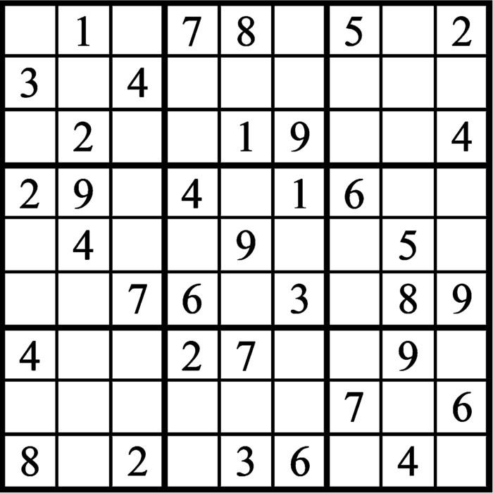 Janric Classic Sudoku for Apr 08, 2021