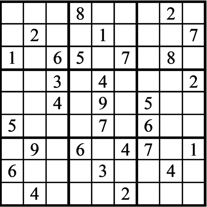 Janric Classic Sudoku for May 05, 2021