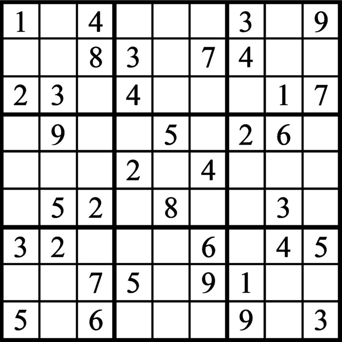 Janric Classic Sudoku for May 06, 2021