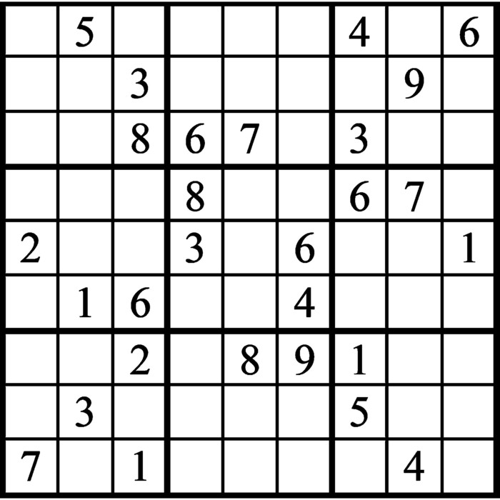 Janric Classic Sudoku for May 12, 2021