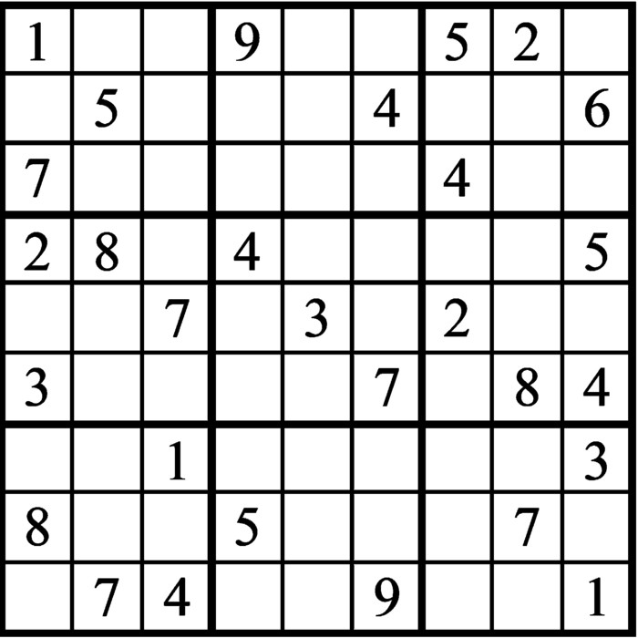 Janric Classic Sudoku for May 15, 2021