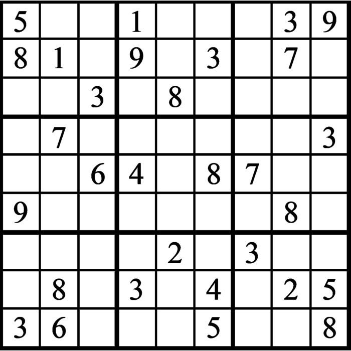 Janric Classic Sudoku for May 04, 2021