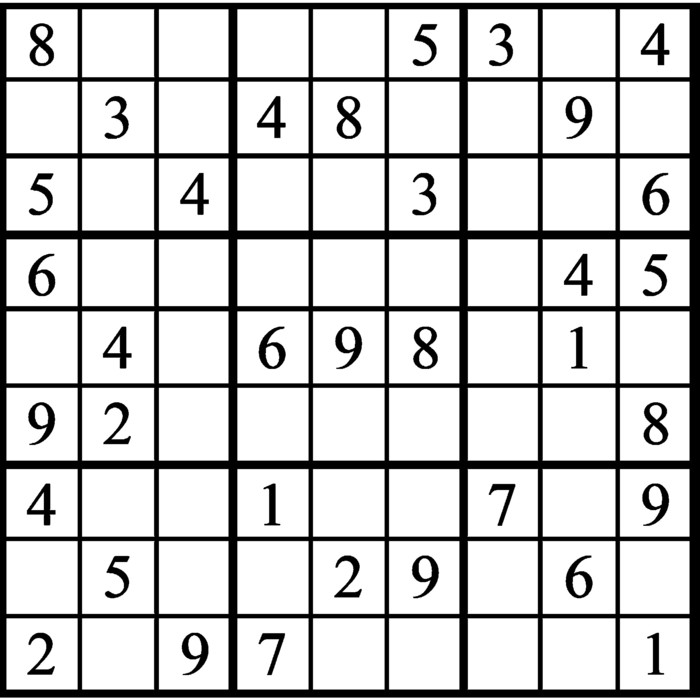 Janric Classic Sudoku for May 03, 2021