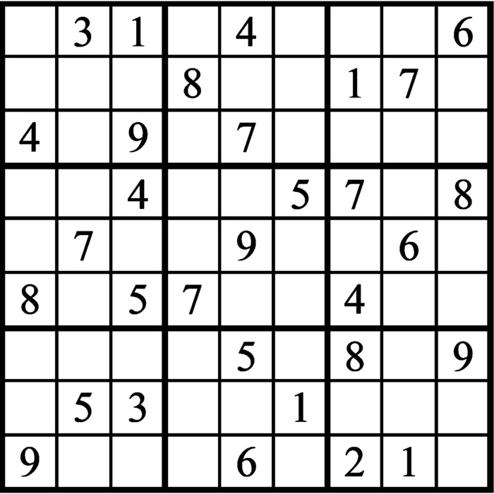 Janric Classic Sudoku for Jun 11, 2021