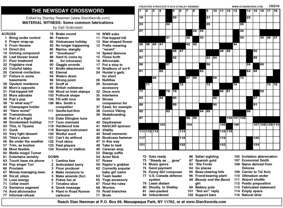 Critical image intended for washington post crossword printable