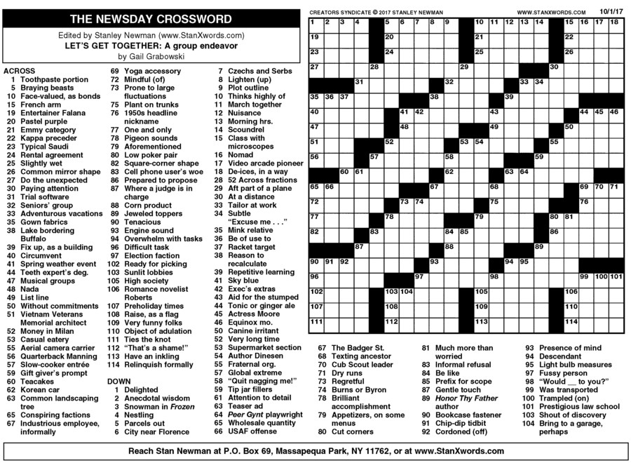 Nerdy image intended for la times crosswords printable