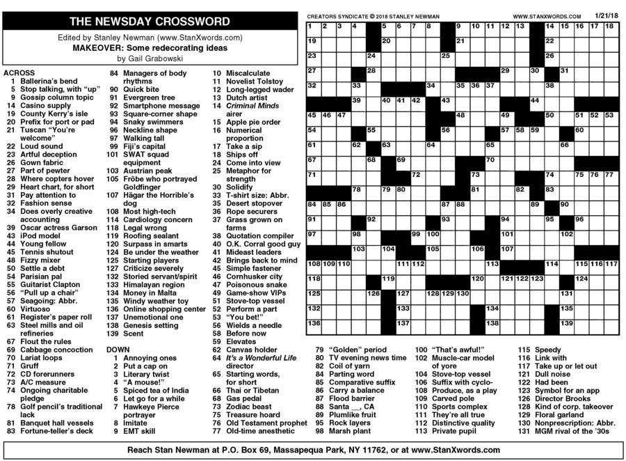 Rare image regarding washington post crossword printable