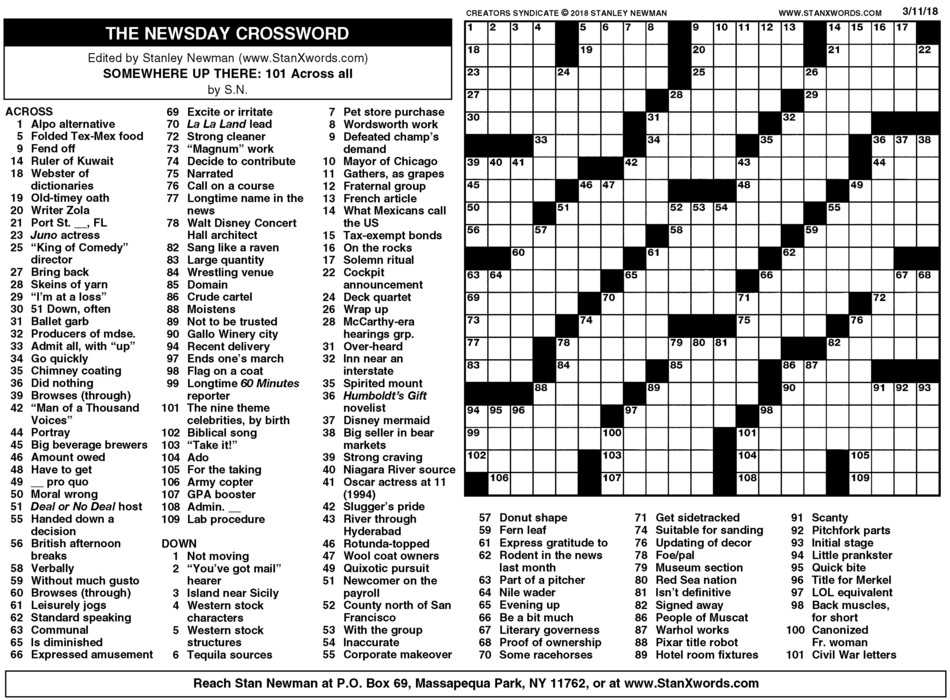 Juicy image throughout printable sunday crossword puzzles