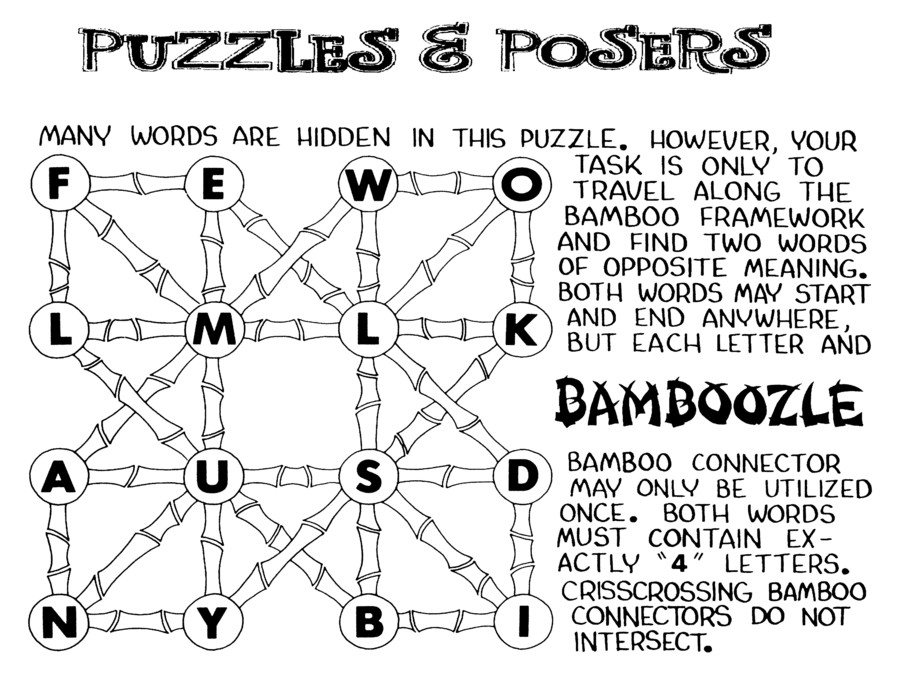 Puzzles and Posers for Jan 03, 2021