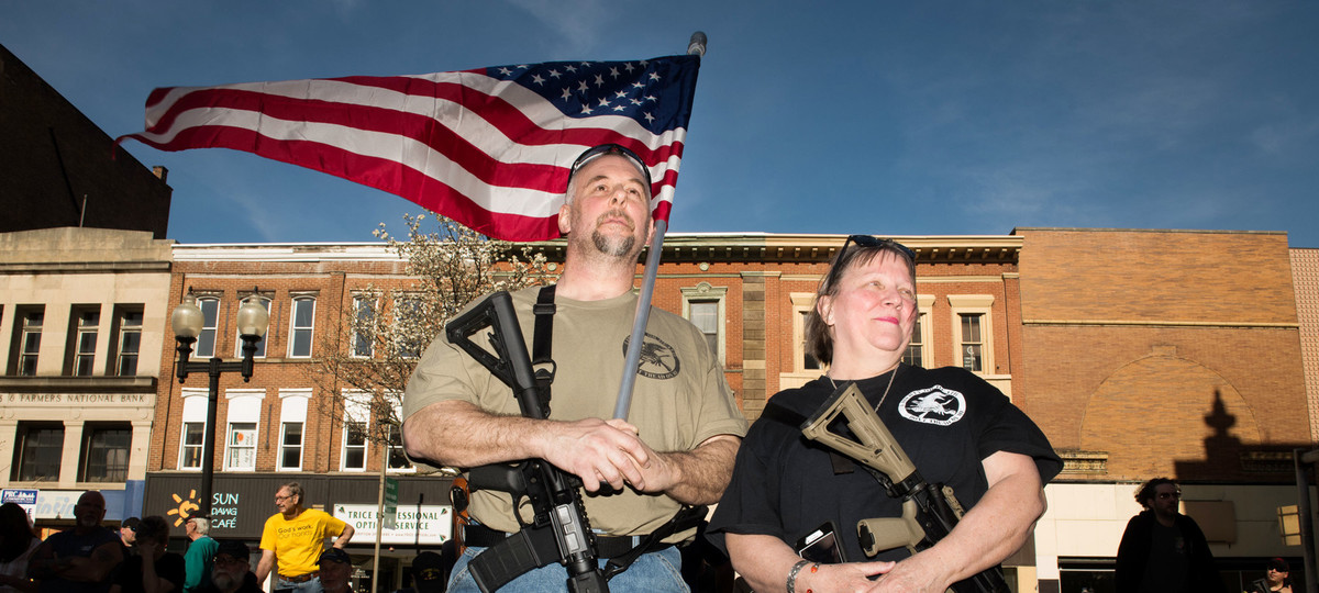 A   Cop Carried an AR-15 at a Gun Control Rally. What Happened Next May Surprise You